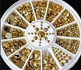 Primi DIY 3D acrilico glitter oro strass 5misure nail art decorazione
