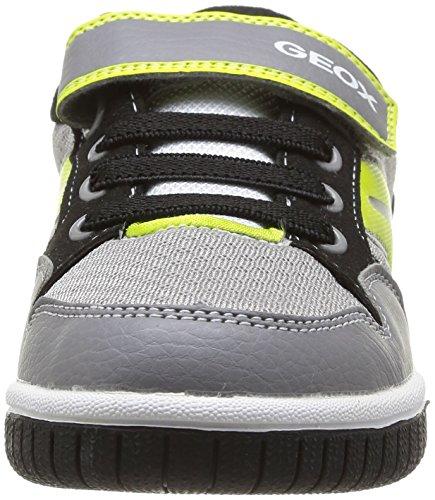 Geox J Gregg B, basses garçon Gris (Grey/Lime)