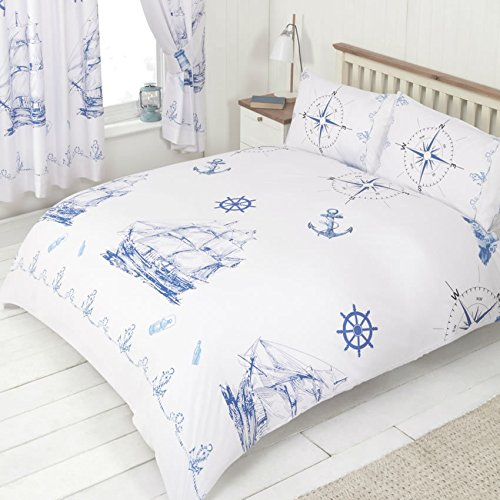 Ships and Anchors Double Duvet & Pillowcases Bed C