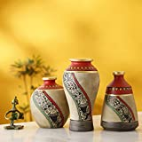 Artysta Terracotta Round Vase - Table Top Decorative Vases Flower Vase Flower Pots Home Decorative Items Flower Vases For Living Room