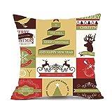 Frohe Weihnachten! 45cm * 45cm Kissen Kasten, Kaiki frohe Weihnacht Kissen Abdeckungs Dekor Sofa Taillen Wurf Kissen Abdeckung (A)