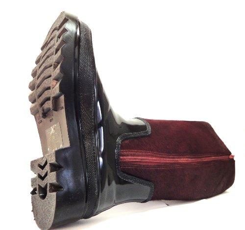 Malu , bottes en caoutchouc femme Rouge - Bordeaux