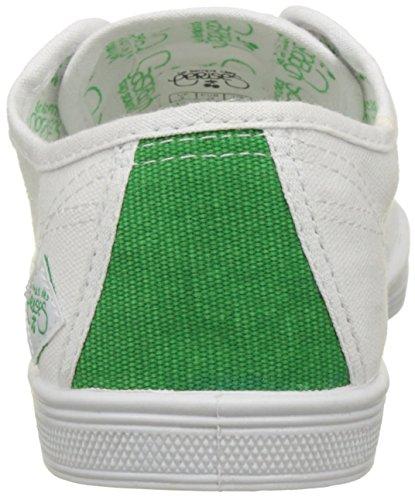 Le Temps des Cerises Basic 02-Sport, Baskets Basses Femme Blanc (Sport Green)