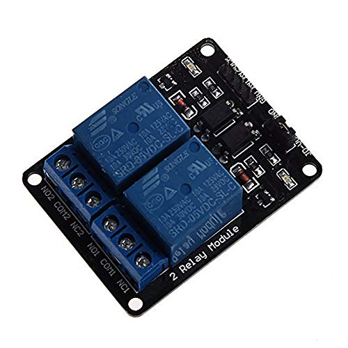 Preisvergleich Produktbild 1 stück 2 Kanal DC 5 V Relaismodul mit Optokoppler Low Level Trigger Erweiterungskarte für Arduino UNO R3 MEGA 2560 1280 DSP ARM PIC AVR STM32 Raspberry Pi2-Wege-Relaismodul 5V