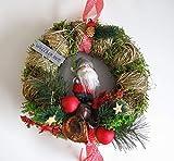 Small-Preis Türkranz - Winterkranz rund Weihnachten mit LED Beleuchtung ø 28 cm - Winter - Willkommensgruß - 212