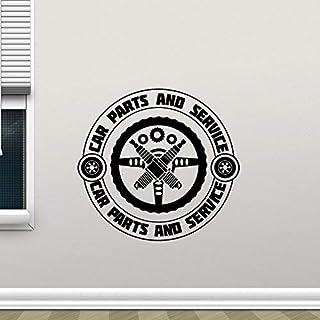 wassaw Auto Reparatur Wandtattoo Autoteile Service Garage Shop Logo Vinyl Aufkleber Removbale Schaufenster Dekoration Wandbild 77X74 cm C