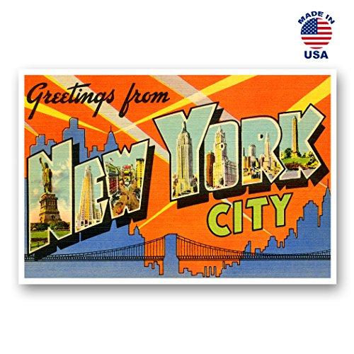 Grüße aus New York Vintage Nachdruck-Postkarten-Set von 20identische Postkarten. Groß New York City und Staat Namen Post Card Pack (ca. 1930's-1940's). Hergestellt in Den USA. (Vintage Post Card)