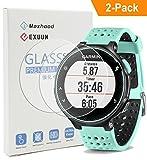 maxhood (2er Pack) Garmin Forerunner 235225gehärtetem Glas Displayschutzfolie, real 0,26mm 2.5D round edge Premium Ge
