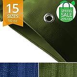 Teloni resistenti e impermeabili, copertura per rimorchio di tenda, grande, in varie misure, 300 g/m², verde – 3 m x 45 m
