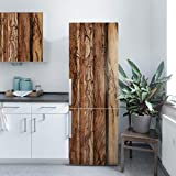 Möbelfolie Holz - Holzwand Flamed - Holzdekorfolie, Dekorfolie, Möbelaufkleber, DIY Designfolie, Sticker, Meterware, Größe HxB: 100cm x 100cm