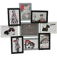 Portarretratos collage mural capacidad 9 fotos - Color gris, blanco y negro