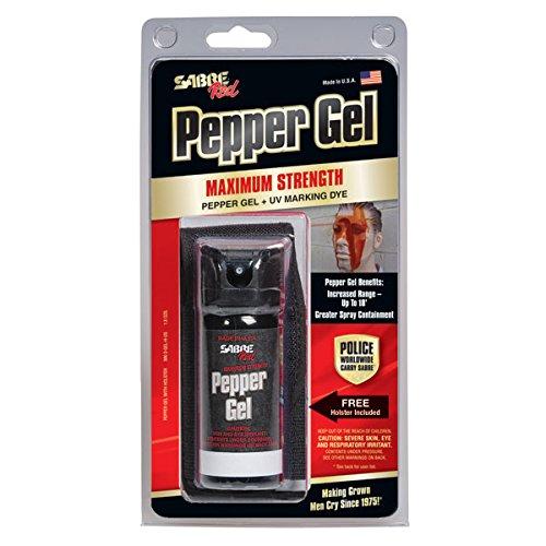 SABRE Red Pfeffergel 50 ml inklusive Flip-Top und Gürtelholster - Polizeistärke - 5,5 m Reichweite - 18 Sprühstöße Abbildung 3