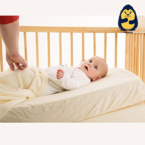 The Wedgehog® Baby Wedge for Reflux and Congestion (Cot Bed - 70cm Reflux Pillow) - Includes Free Bundled Reflux eBook