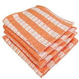 Bambus Spültuch 30x30 orange 3er Set