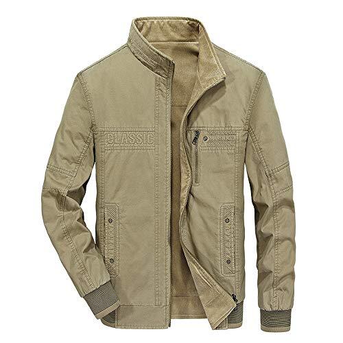 Setsail Herren Trend nach Oben Herbst Winter tragen Baumwolljacken auf beiden Seiten Mode Kragen Reißverschluss Herrentel Front Zip Windbreaker Jacke