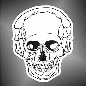 Schädel profiliert Aufkleber Skull Sticker