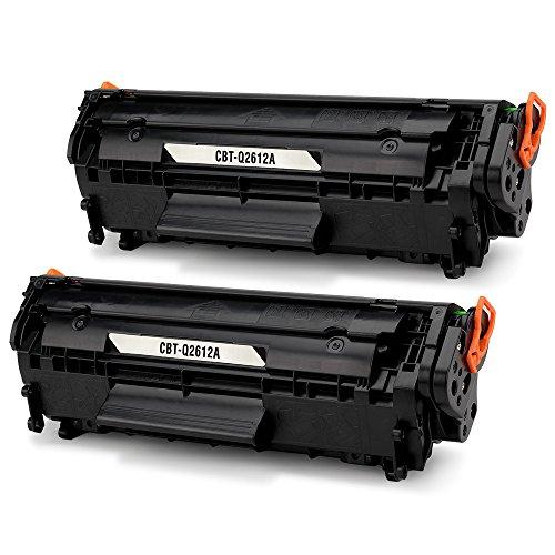 JARBO 12A Q2612A Cartuchos de tóner Negro Compatible para HP LaserJet 1010 1012 1015 1018 1020 1022 1022n 1022nw 3015 3020 3030 3050 3052 3055 M1005 M1319 M1319f, Pack de 2