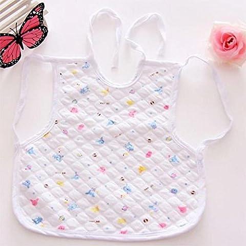 Pyrty (TM) Nuovo arrivo dei vestiti del bambino Bavaglino maglia del cotone 100% cotone impermeabile Bavaglino neonato infantile all'ingrosso panni del Burp 1 pezzo colore casuale - Campione Cina
