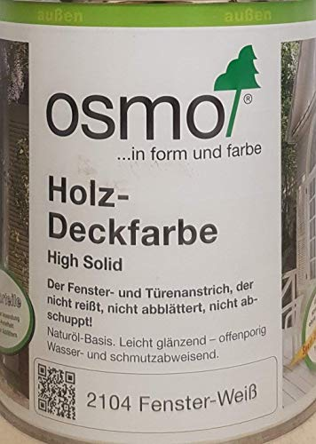 OSMO Holz-Deckfarbe 750ml Fenster-Weiss 2104