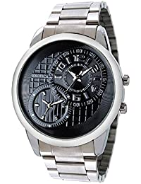 Exotica Black Dial Analogue Watch for Men (EF-50-Dual-ST-B)