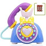 WRUMLJUFX Baby 1-2-3-jährige Mädchen 4-5 männlich 6 Kind frühen Bildung intellektuellen Power Telefon Spielzeug Geburtstagsgeschenk Mädchen, Blaue Batterie Version