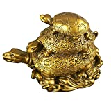 Eshoppee Vastu Fengshui Triple Tortoise Turtle Family For Protection, Good Luck, Wealth And Longevity
