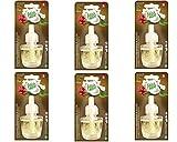 6x Fresh&More Nachfüller Für Air Wick Duftstecker Kokosnuss-Mandelblüte & Kirsche - 19ml