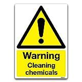 Advertencia productos químicos de limpieza señal de seguridad Peligro De Vinilo autoadhesivo adhesivo para PVC