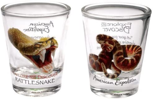 American Expedition Shot Glasses (set of 2)  American RATTLESNAKE by American  Expedition bc48e6