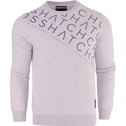 Crosshatch Mens Designer 'Francis' Crew Neck Fleece Sweatshirt Jumper Smart Casual Top
