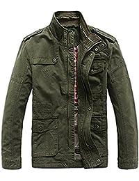 Militaire Veste Homme mi Saison Casual Blousons en Coton Automne Manteau  Classe Blouson Jacket e05f52388608