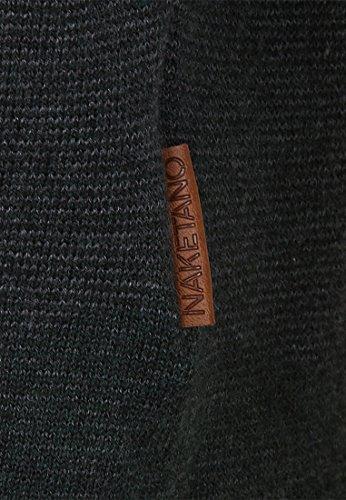 Naketano Male Knit Ich hab dicke Eier II Best Green-Light Mint Melange Striped