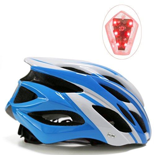Fahrradhelm mit LED-Licht, A-Best Specialized Cycle Helm mit Sicherheitsleuchte Super Light Integrally Bike Helm Adult Bike Helm mit Abnehmbarem Visier und Liner
