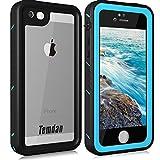 Temdan iPhone SE5S5 Waterproof Case with Kickstand Shockproof Built in Screen