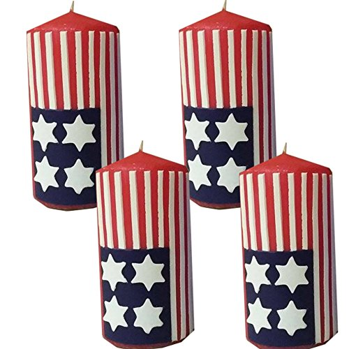 Weihnachten Kerzenset 4 StückStumpenkerzen Adventskerzen 100x50 Dekokerzen Kerzen für Adventskranz Geschenk Amerika IW20