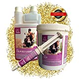 EMMA SPARSET- ⭐ Magnesium für Pferde (Nervosität und Angst) Vitamin E, Tryptophan (innere Ruhe) Pellets I 1 Vitamin B12 (Nervenleistung) Liquid Dosierflasche 1L I & 1 Calm Booster