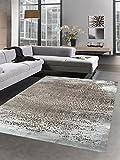 Carpetia Moderner Teppich Antik Vintage Ornamente Braun Beige Größe 80x150 cm