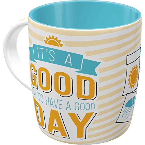 Nostalgic-Art 43027 Retro Kaffee-Becher Word up - Good Day, Lustige große Tasse mit Spruch,...