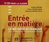 Entree En Matiere CD Audio Classe