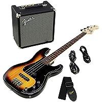 Fender Squier Affinity Series PJ Bass Pack Brown Sunburst