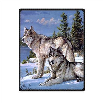 Dalliy coperta in pile lupo grigio fleece blanket 40