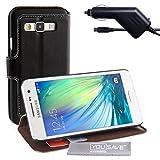 Yousave Accessories® Custodia Portafoglio con Caricabatteria da Auto per Samsung Galaxy A3, Pelle PU Basamento, Nero