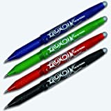 Pilot Frixion Rollerball Pen Mixed Colour Pack of 4 - Black, Blue, Red, Green