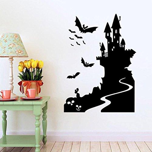 Saingace® halloween Wandaufkleber Wandtattoo Wandsticker,Halloween Hintergrund verziert Wohnzimmer Schlafzimmer-Wand-Aufkleber