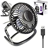 Usb Fan Retro Mini By G-Hub - 360 Rotation Desk Fan Powered by USB Socket of a Laptop or PC or any USB Mains Adapter - Compact Usb Fan Mini 4â