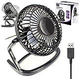 G-HUB Retro USB – Ventilador USB ligero y portatil de 4 pulgadas, color negro
