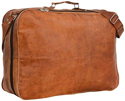 """Gusti Cuir nature """"Alexander"""" sac de voyage bagage à main valise cuir véritable sac porté épaule sac de sports bagage cabine fourretout sac en bandoulière femme homme marron R7"""