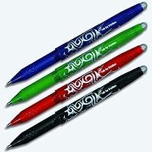 Pilot Pen Frixion Tintenroller (radierbar) 4 Stück farbig sortiert