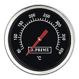 B.PRIME Grill-Thermometer analog Classic – Temperatur-Anzeige von 50-400°C mit 45mm Durchmesser