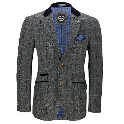 Xposed - Veste de costume - Homme * Taille Unique gris charbon